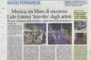 Articolo Resto del Carlino - 18-06-2018 - Mare Di Musica 2018