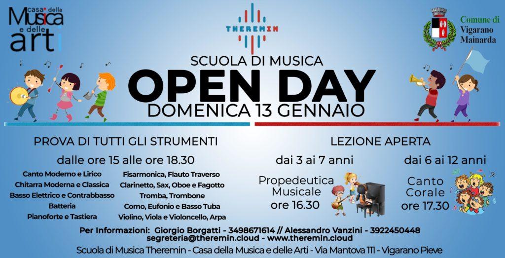 13 Gennaio 2018 - Open Day